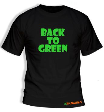 kaos oblong back to green hitam