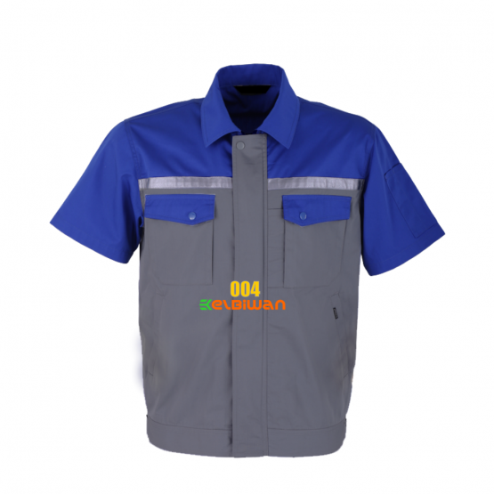 seragam kerja lapangan biru abu