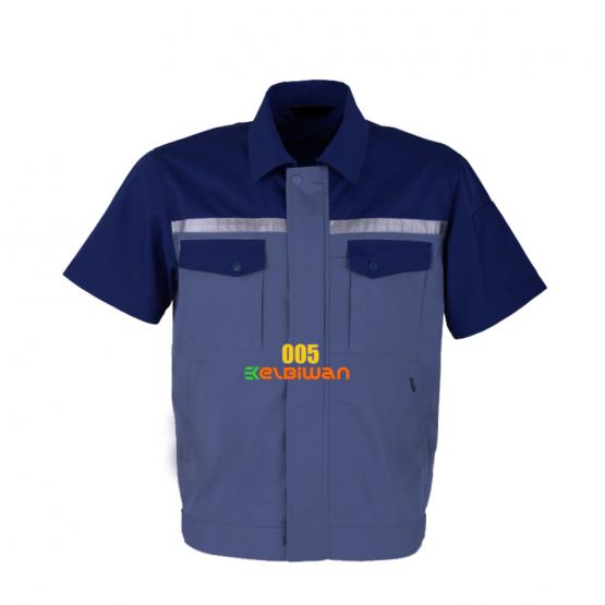 seragam kerja biru-biru muda